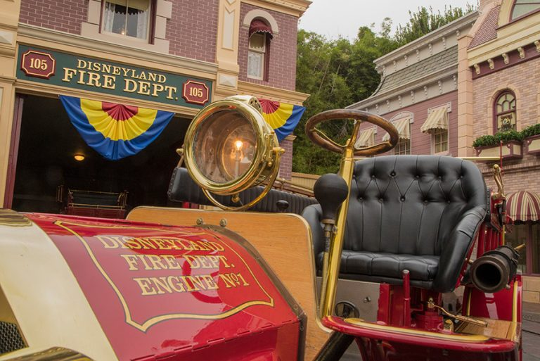 Fire Engine at Disneyland park