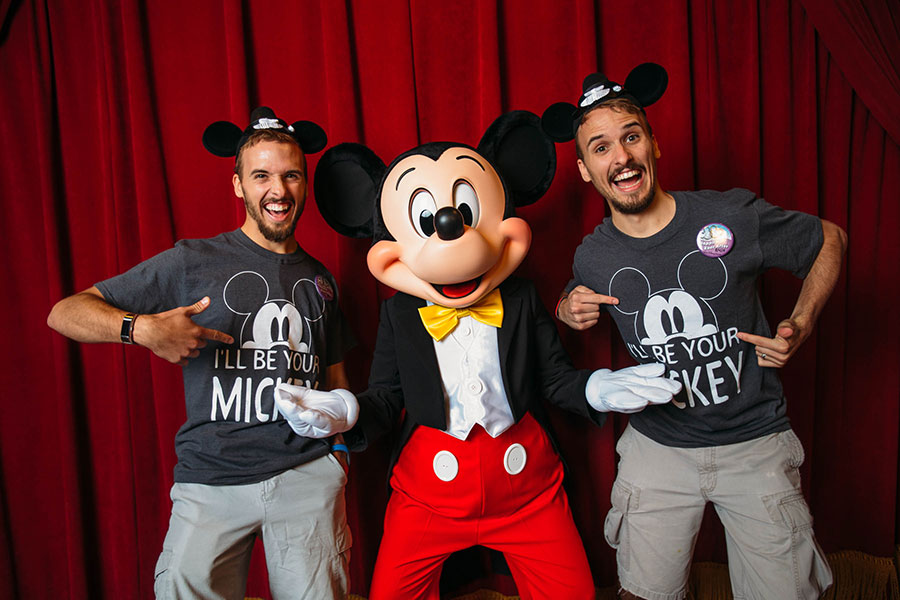 Twin brothers meet Mickey Mouse, Walt Disney World Resort