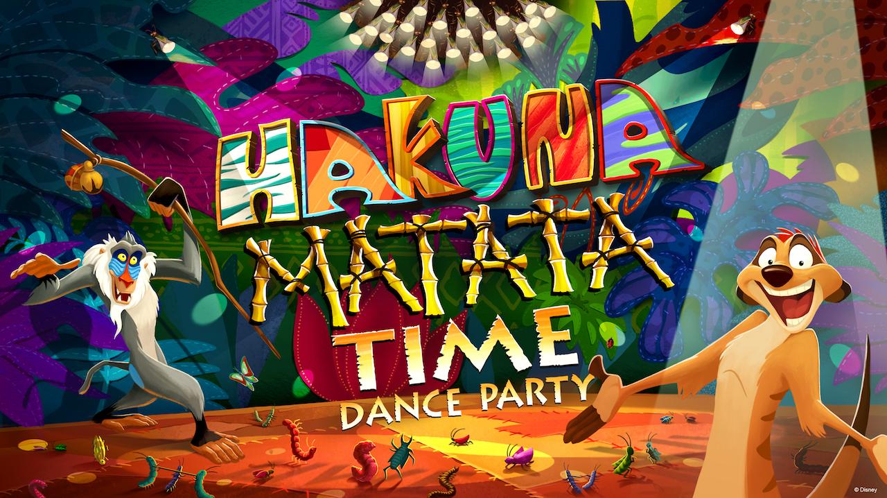 Artwork de l'Hakuna Matata Time Dance Party qui fait partie des nouvelles expériences pour 2019 à Walt Disney World Resort