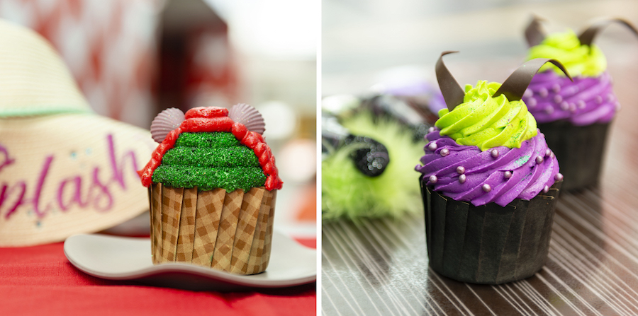Ariel Cupcake and Maleficent Cupcake at Intermission Food Court at Disney's All-Star Music Resort