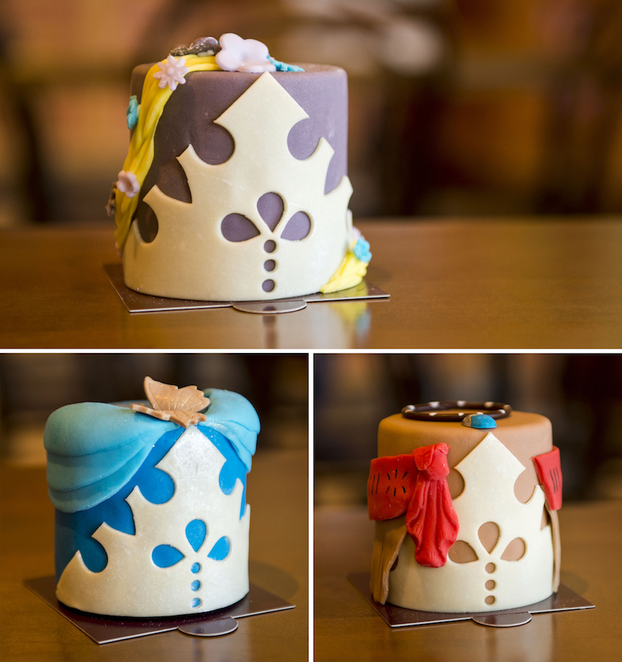 Princess Petit Cakes at Amorette's Patisserie at Disney Springs