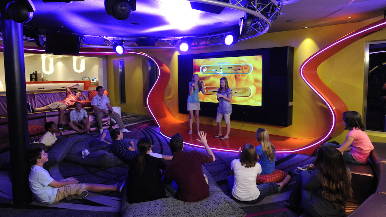 Teens rule in Vibe, a club created exclusively for guests ages 14 to 17 aboard the Disney Dream