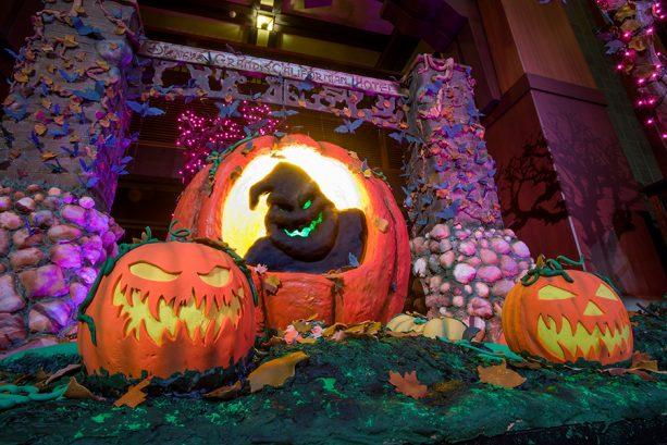 Halloween decor at Disney's Grand Californian Hotel & Spa
