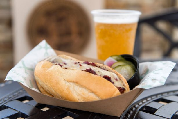 Smoked Sausage and Stella Artois Apple Cider at B.B. Wolf's Sausage Co. for WonderFall Flavors at Disney Springs