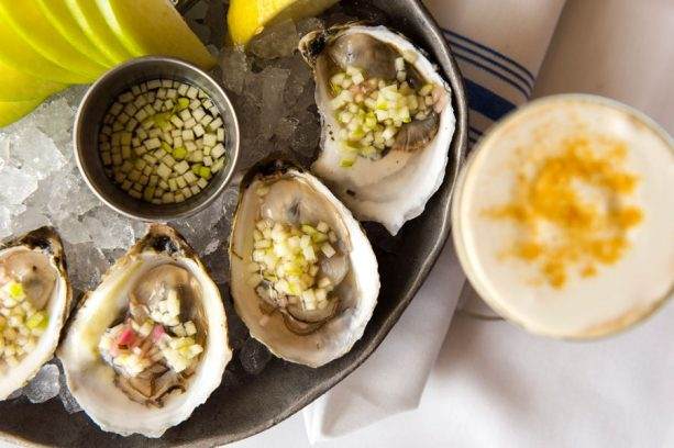 Lucky Dux Oysters and Bronzed Maple Coffee at The Boathouse for WonderFall Flavors at Disney Springs