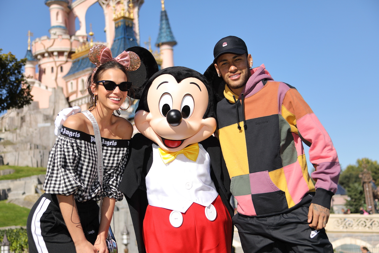 Neymar and Bruna Marquezine joined Mickey Mouse at Disneyland Paris