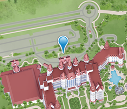 Map of Hong Kong Disneyland Hotel