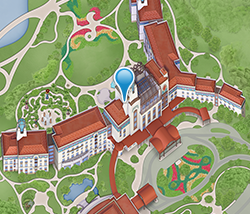 Map of Shanghai Disneyland Hotel