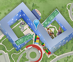 Map of Toy Story Hotel