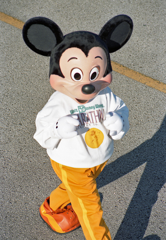 Mickey Mouse at the Walt Disney World Marathon in 1994