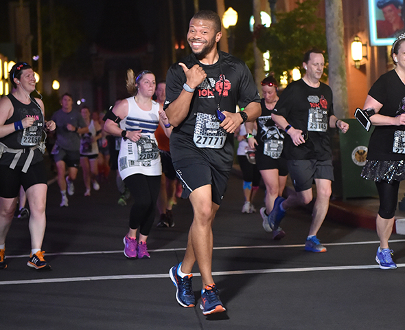 Star Wars 10K runner passing through Hollywood Studios.