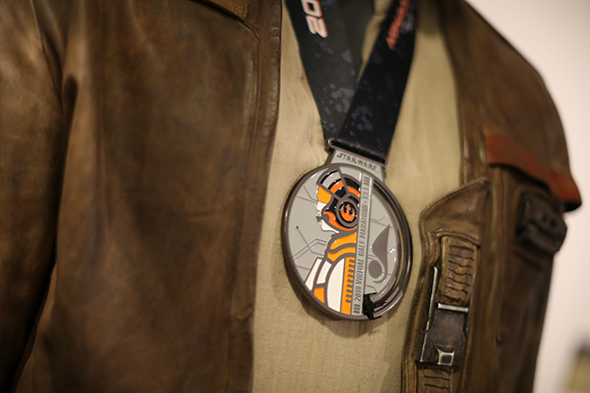 Star Wars Virtual Half Marathon Medal with Poe Dameron
