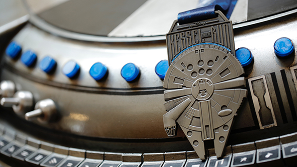 Kessel Run Challenge Medal with Millennium Falcon