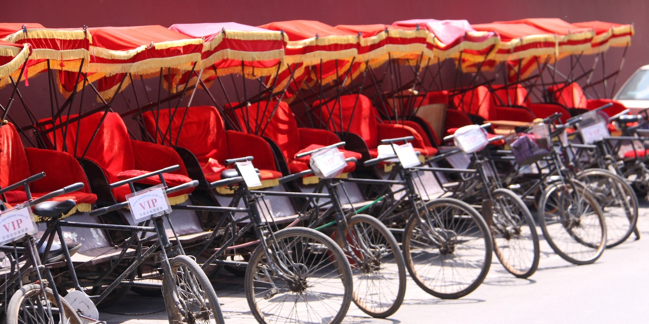 A row of pedicads