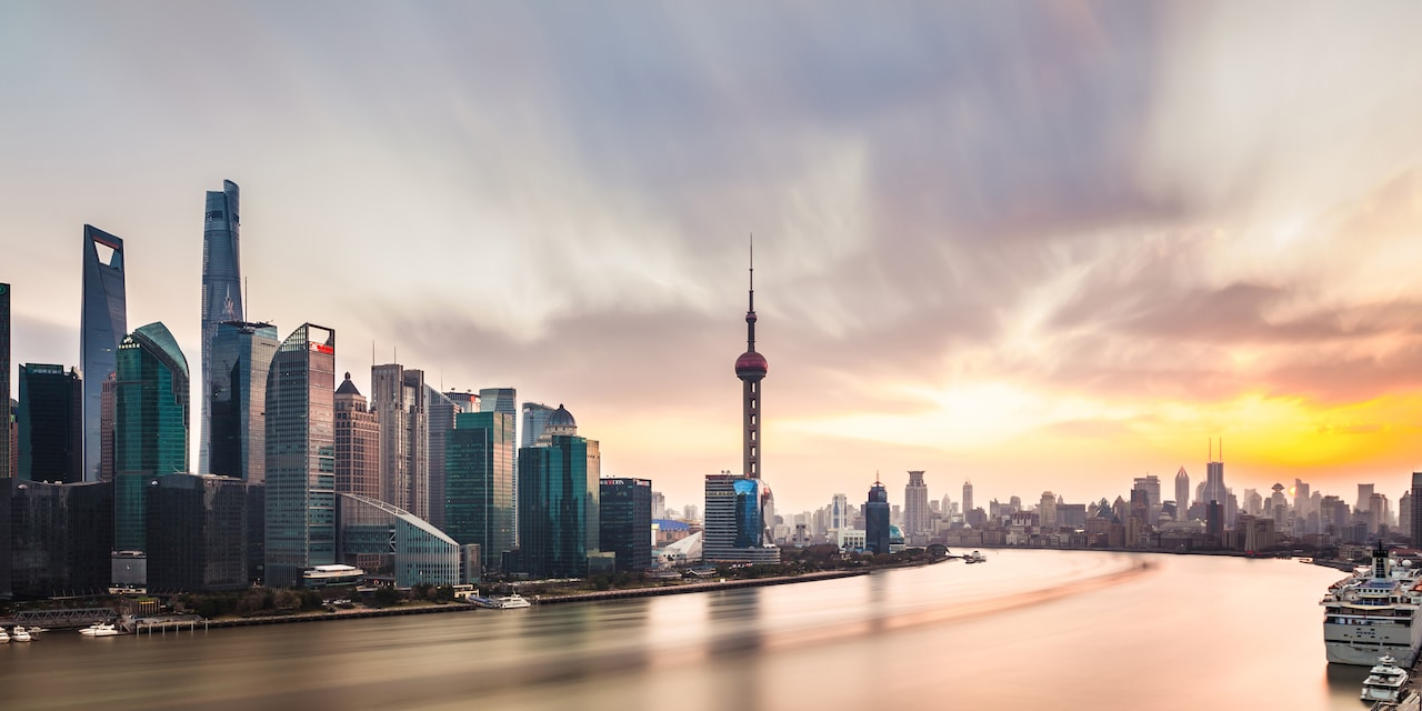 Shanghai, China at dawn