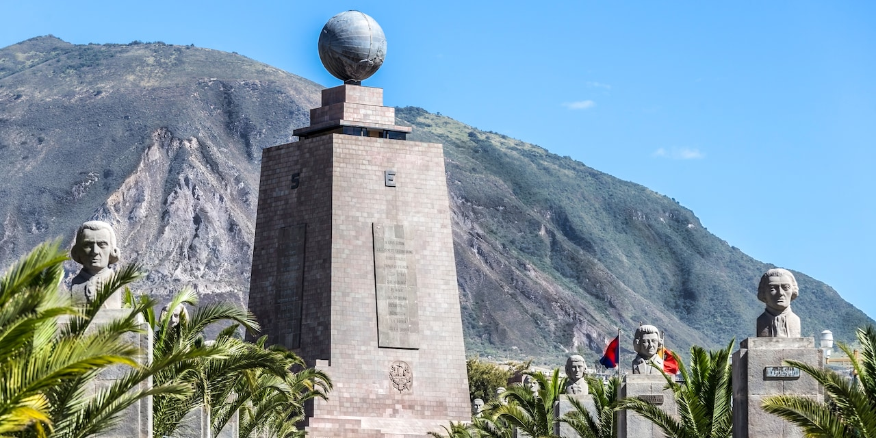 The Monument to the Equator at Ciudad Mitad del Mundo in Ecuador