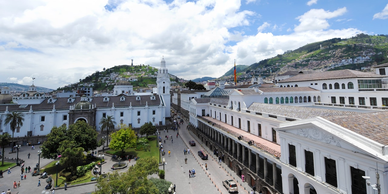 UNESCO World Heritage Site in Quito, Ecuador