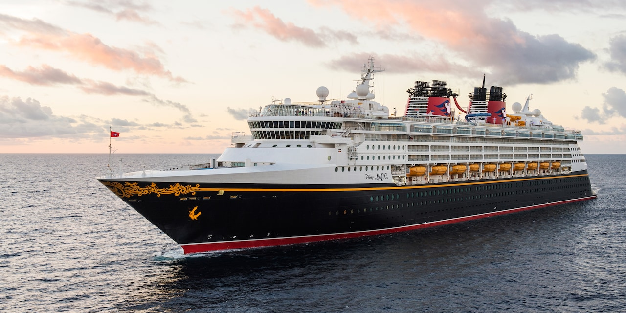 The Disney Magic® Cruise Ship cruising across the sea