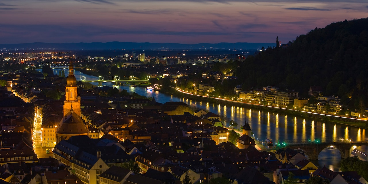Heidelberg at night