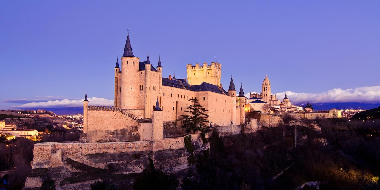 The dramatic Alcazar Castle on a hilltop