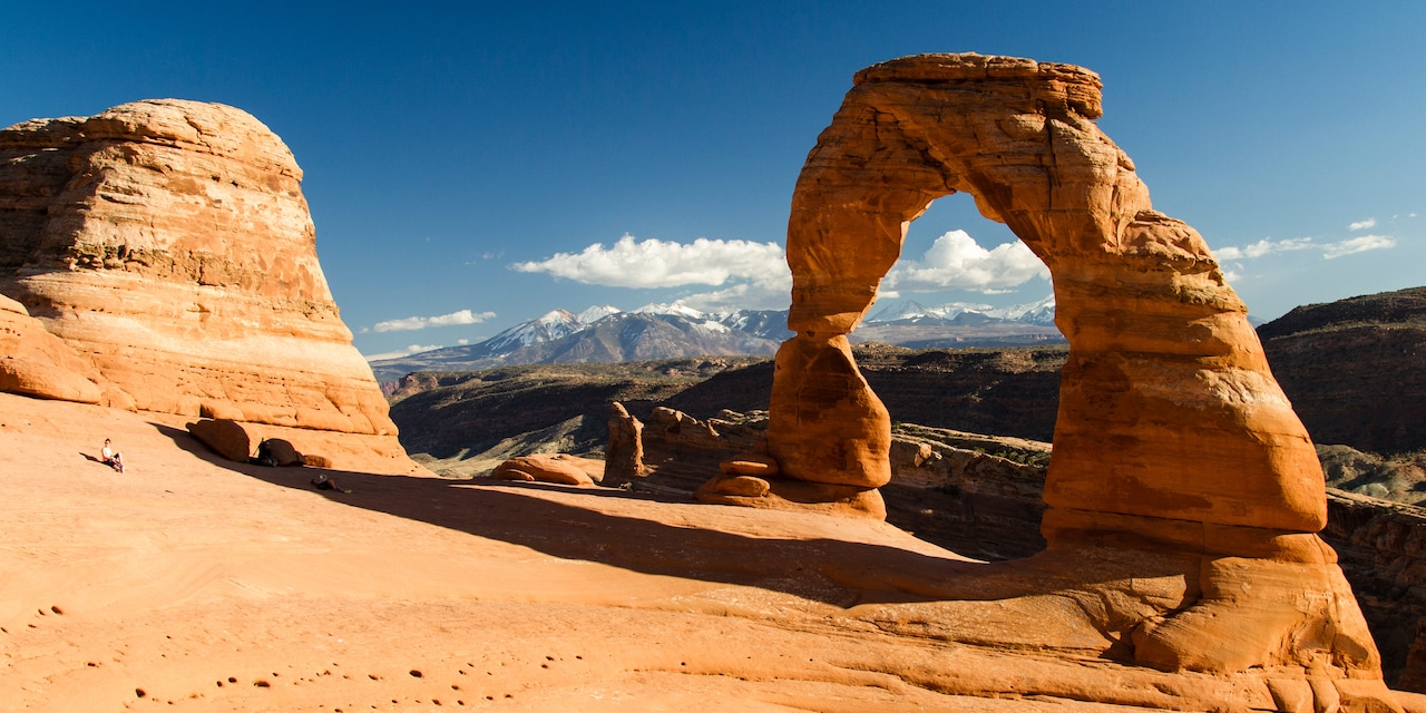 A sandstone arch in Arches National Park