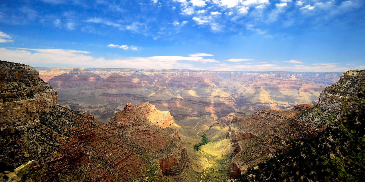 Panoramic view of the Grand Canyon