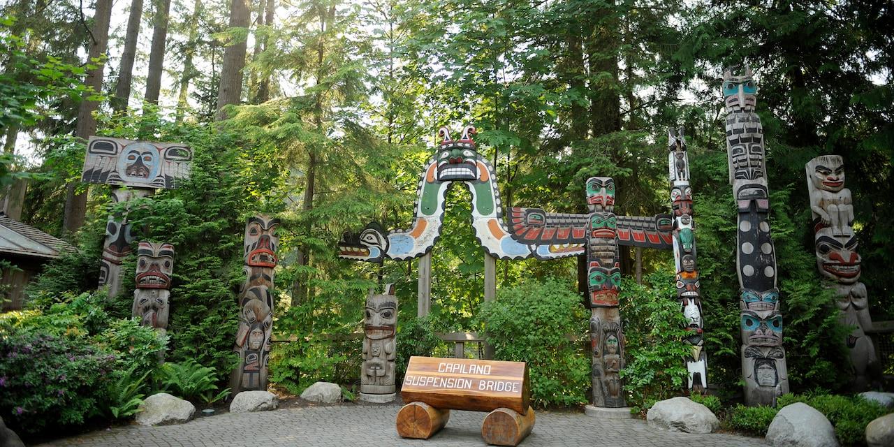 Totem poles at Capilano Suspension Bridge Park