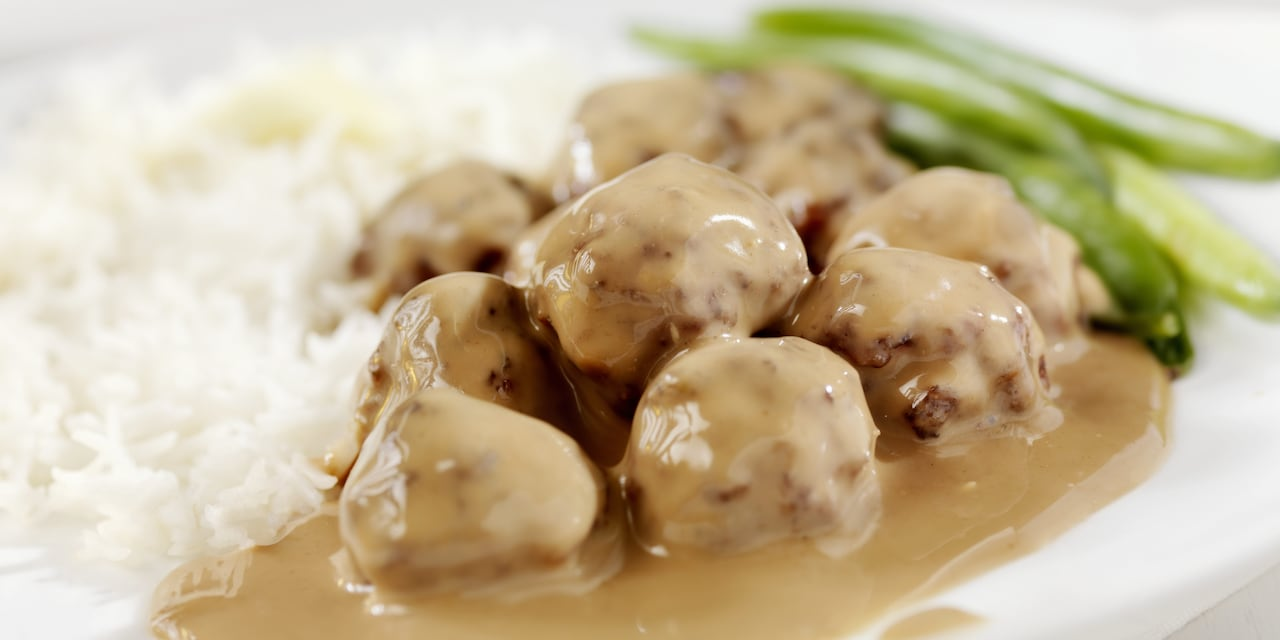 A plate of Swedish meatballs