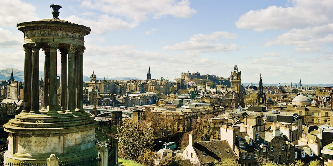 The rooftops and steeples of Edinburgh