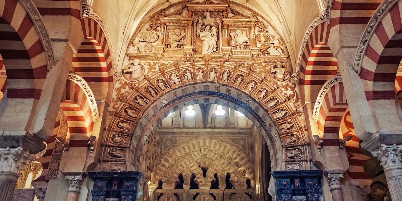 Inside La Mezquita, the Mosque Cathedral of Córdoba