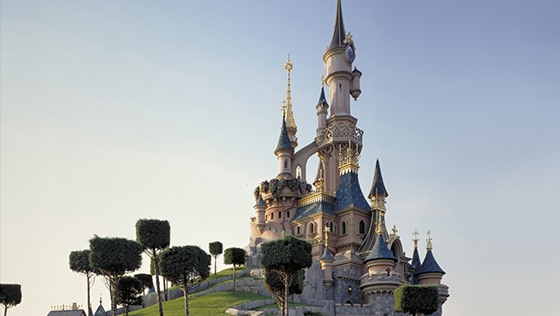 Le Sleeping Beauty Castle à Disneyland Paris en France