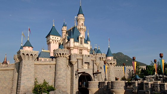 Le Sleeping Beauty Castle au Hong Kong Disneyland en Chine