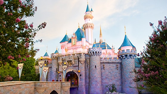 Sleeping Beauty Castle in Disneyland Park at Disneyland Resort in California