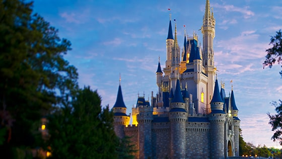 Cinderella Castle in Magic Kingdom Park at Walt Disney World Resort in Florida