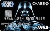 Cartão Visa Chase com design do Darth Vader
