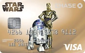 Chase Visa card with Star Wars droids design