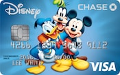 Cartão Visa Chase com design do Pato Donald, Pateta e Mickey Mouse