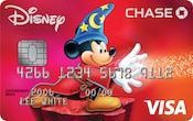 Carte Visa Chase illustrée d'un Mickey Mouse sorcier