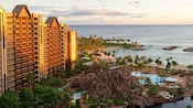 A stunning view of Aulani, A Disney Resort & Spa in Ko Olina, Hawai'i