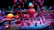 A chorus line of lobsters sing during the Little Mermaid Ariel's Undersea Adventure attraction