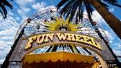 Big letters spell Mickey's Fun Wheel