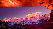 The majestic rocks that surround the Radiator Springs Racers attraction