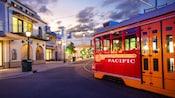 Red Car Trolley in Disney California Adventure Park
