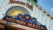 Signs for Paradise Pier and Toy Story Midway Mania!