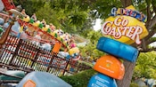 Comical Gadget's Go Coaster attraction sign