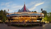 Wide shot of King Arthur Carrousel in Fantasyland at Disneyland Park