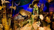 It's a pirate's life for a skeleton surrounded by stolen treasure