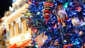 Main Street, U.S.A. tree ornaments and lights