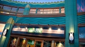 Downtown Disney shop sign says, Sanuk, They're Not Shoes, They're Sandals