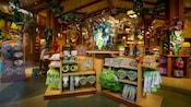 Tinker Bell merchandise display inside the World of Disney store